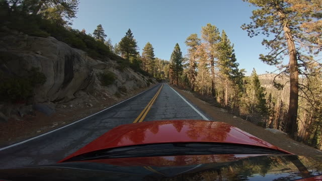 driving with car in the yosemite valley. - mariposa county stock videos and b-roll footage