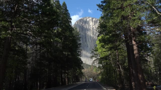 driving yosemite national park - yosemite national park stock videos & royalty-free footage