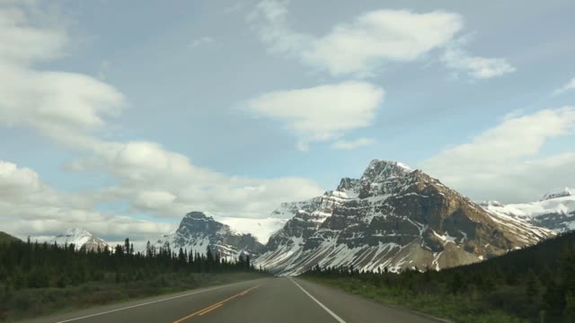 driving/process plates, banff - distant stock videos & royalty-free footage
