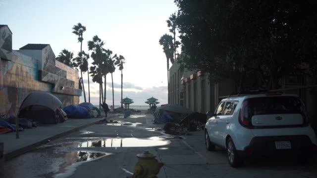 stockvideo's en b-roll-footage met driving/process plates - venice california