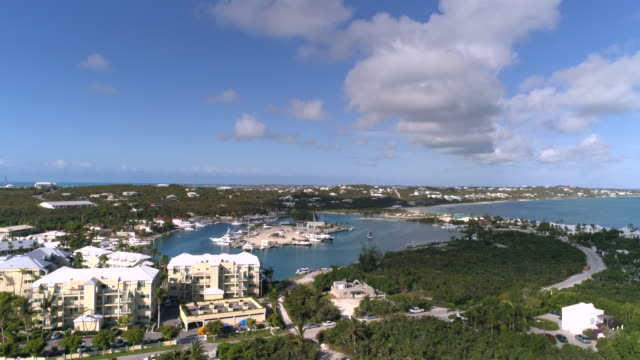 Drone 4k Aerial view of Turtle Cove from famous Grace Bay