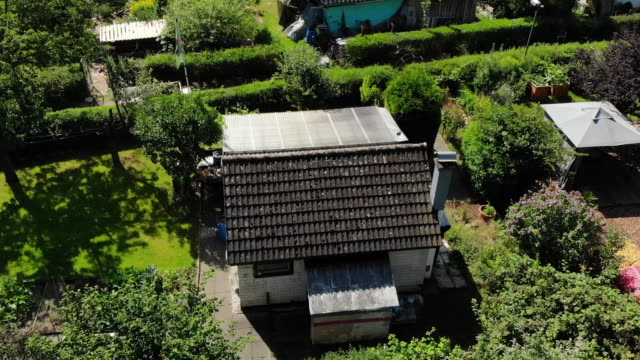 drone aerial shots of residential houses in braunschweig, where the madeleine mccann suspect christian b used to live, on 31 july 2020 in... - madeleine mccann stock videos & royalty-free footage