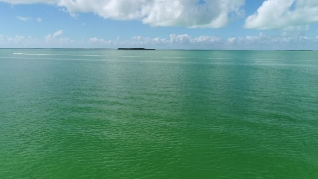 Drone Aerial Video Flying over the waters of Key Largo