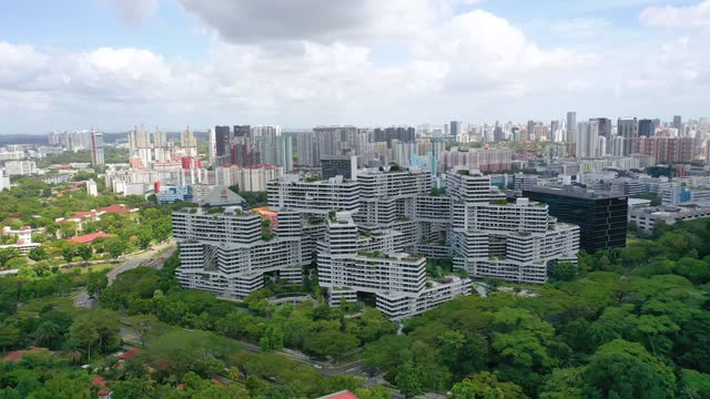 drone aerial view 4k footage of building in singapore. - singapore stock videos & royalty-free footage