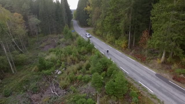 Drone aerials of border between Norway and Sweden