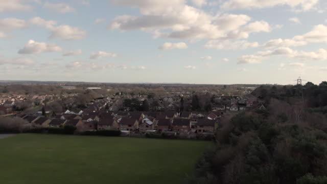 Drone aerials of housing estate in Dorset
