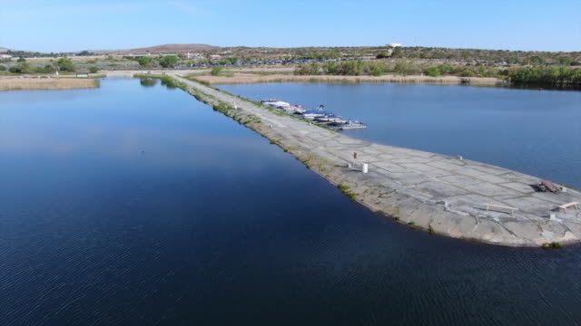 drone aerials of lake in palmdale california usa on thursday may 2 2019 - palmdale stock videos and b-roll footage