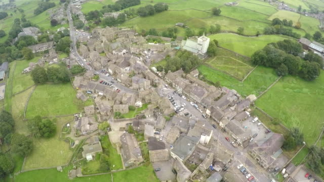 drone aerials of nothallerton a market town in north yorkshire - town stock videos & royalty-free footage