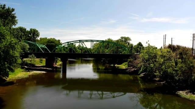 a drone appraoches the bottom of a bridge in indianapolis indiana - indianapolis stock videos & royalty-free footage