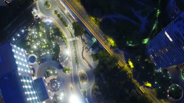 Drone, at night over Monaco