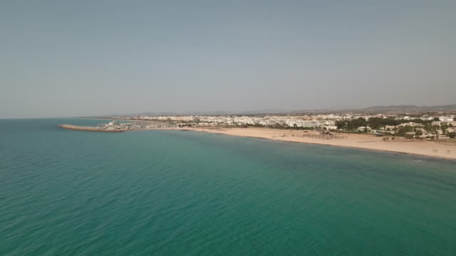 Drone, Beautiful beach, Tunis, North Africa