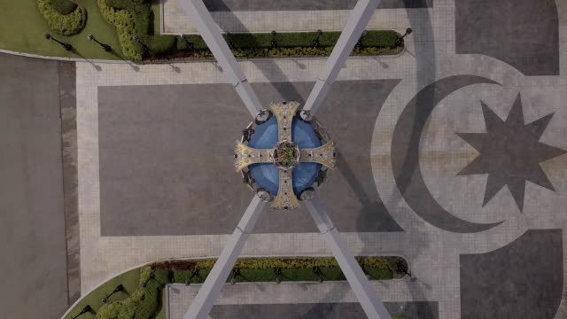 a drone captures a birdseye view of a johor crown at bukit serene palace in johor bahru malysia - johor stock videos & royalty-free footage