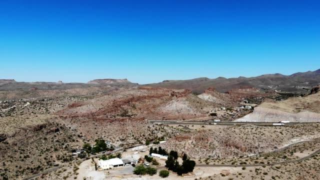 a drone captures commuters along interstate 40 in kingman arizona - kingman arizona stock videos & royalty-free footage