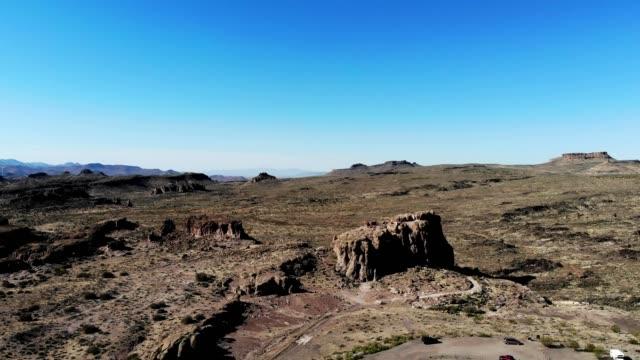 a drone captures part of the desert in kingman arizona - kingman arizona stock videos & royalty-free footage