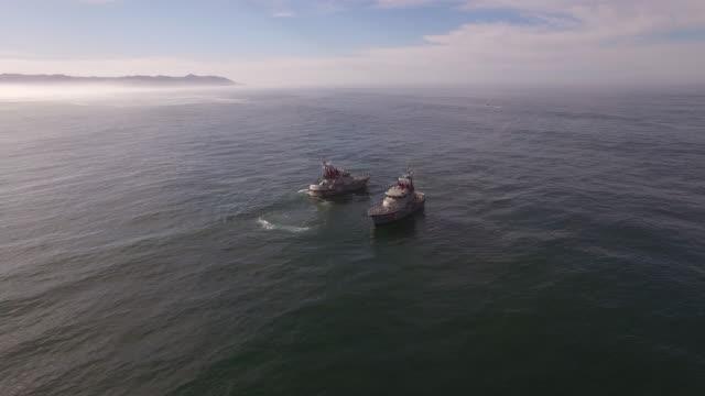 Drone Coast Guard Orbit Aerial, 4K, 26s, 3of7, Stock Video Sale