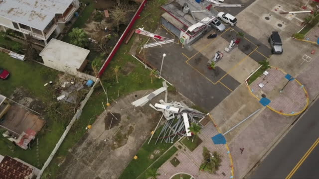 vidéos et rushes de wpix drone pov damage in puerto rico after hurricane maria on sept 27 2017 - endommagé