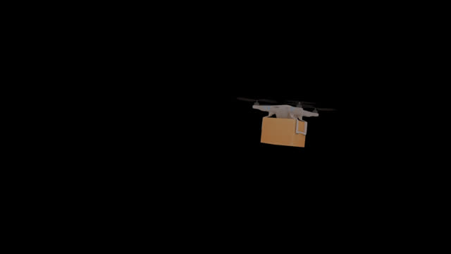 drone delivery boxes with alpha channel - alpha channel stock videos & royalty-free footage