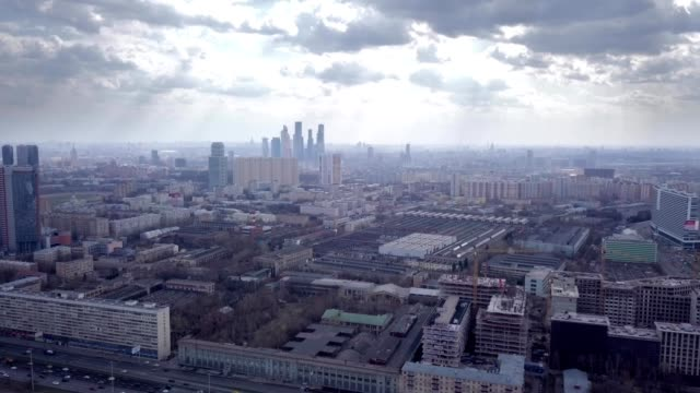 a drone descends outside downtown moscow russia - moscow russia stock videos & royalty-free footage