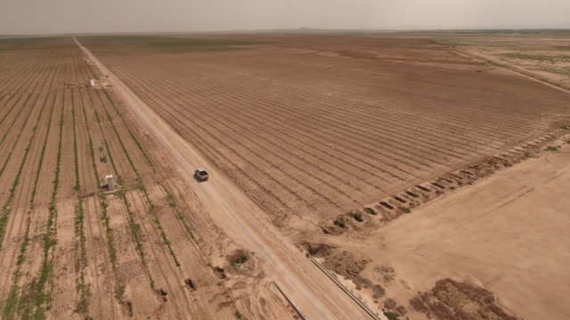 drone, farm factory agriculture, desert, truck, tunis, tunisia - 20 seconds or greater stock videos & royalty-free footage