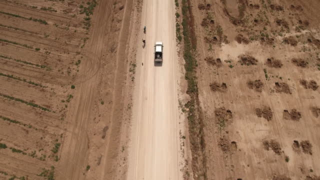 Drone, farm factory agriculture, desert, Truck, Tunis, Tunisia