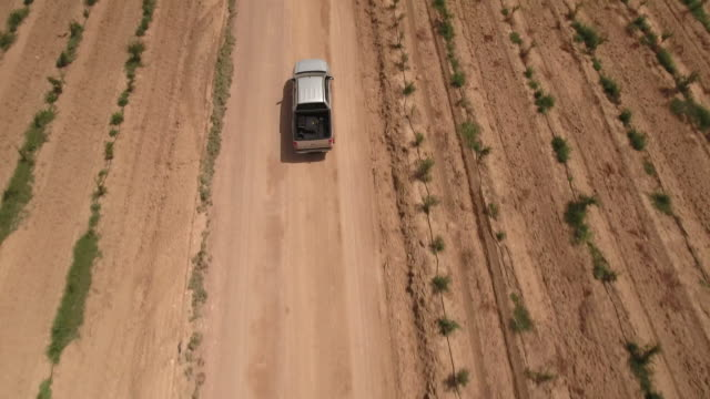 drone, farm factory agriculture, desert, truck, tunis, tunisia - tunisia stock videos & royalty-free footage