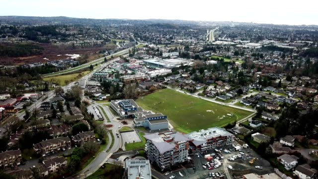 a drone flies over a suburb of royal oak british columbia canada - dronebase stock videos and b-roll footage