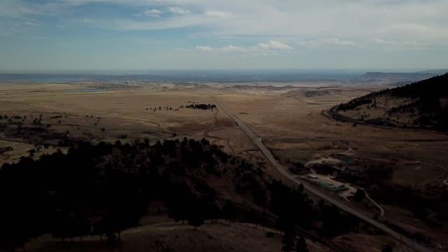 a drone flies over coal creek canyon in arvada colorado - colorado stock videos and b-roll footage