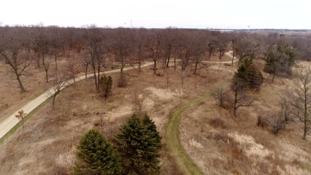 a drone flies over countryscapes in lindenhurst illinois - dronebase stock videos and b-roll footage