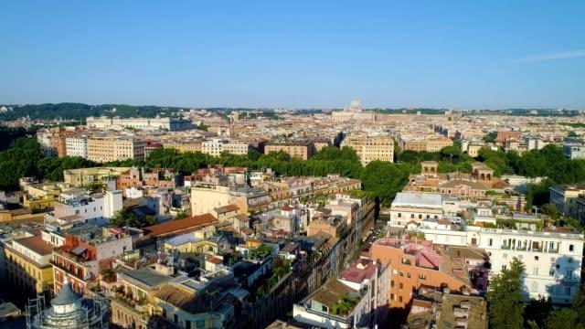 A drone flies over Rome Lazio Italy