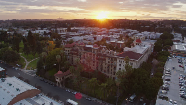 drone flight across pasadena, california - pasadena california stock videos & royalty-free footage