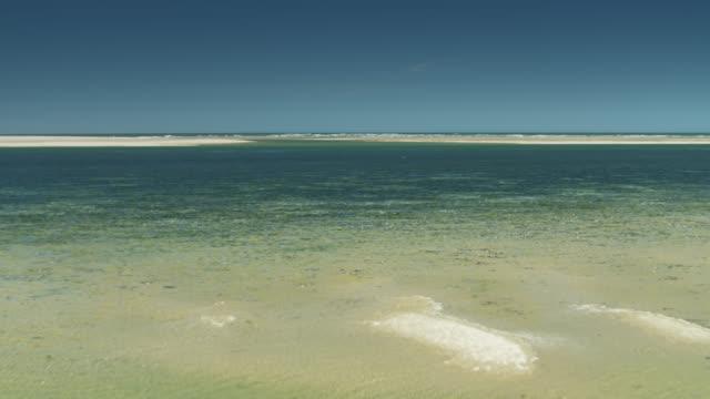 drohnenflug über blauegewässer von netarts bay - oregons küste stock-videos und b-roll-filmmaterial