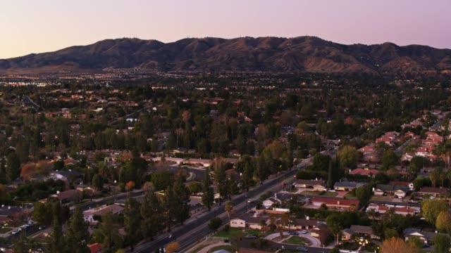 Drone Flight Over Northridge, Los Angeles at Sunset