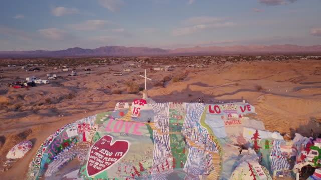Drone Flight Over Salvation Mountain