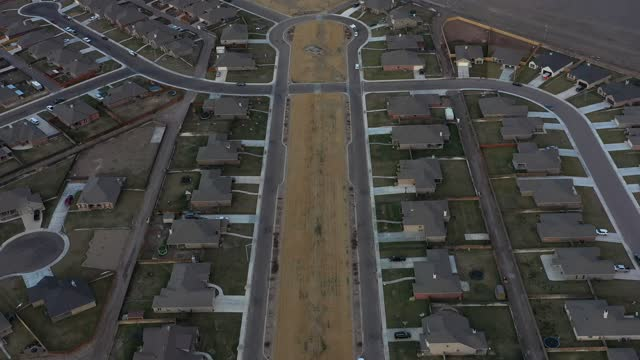 drone fly over of housing in west texas - pedestrian stock videos & royalty-free footage