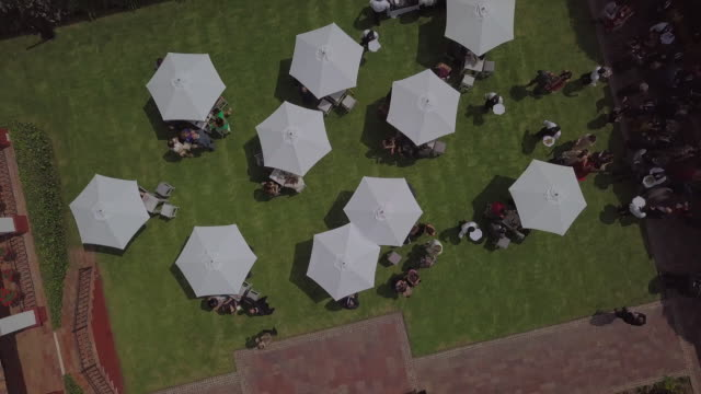 drone flying over a party - tall high stock videos & royalty-free footage
