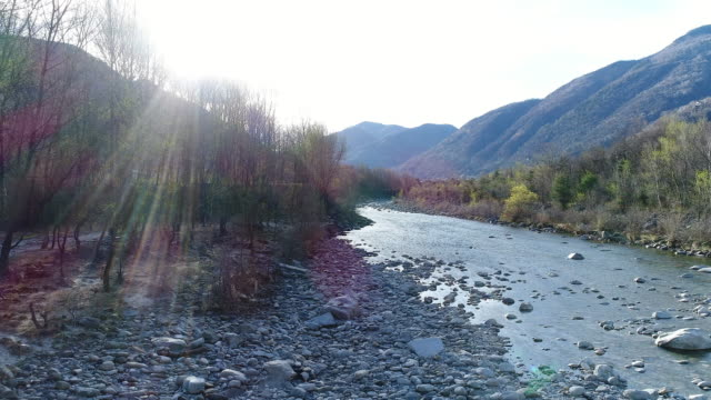 drone flying over river in switzerland - ticino canton stock videos and b-roll footage