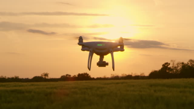 pan drone flying over the field - unmanned aerial vehicle stock videos & royalty-free footage