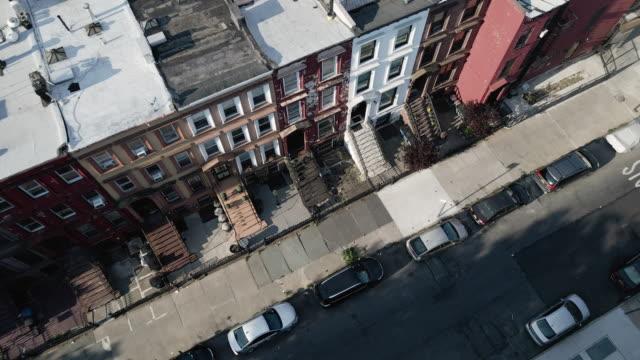 drone footage brooklyn brownstone - brooklyn new york stock videos & royalty-free footage