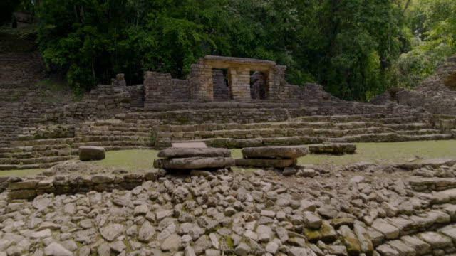 drone footage mayan city of yaxchilan in mexico - mayan stock videos & royalty-free footage
