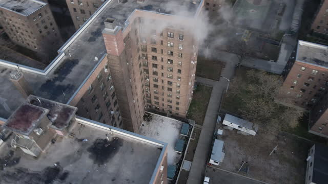 drone footage of a brooklyn housing project - council flat stock videos & royalty-free footage