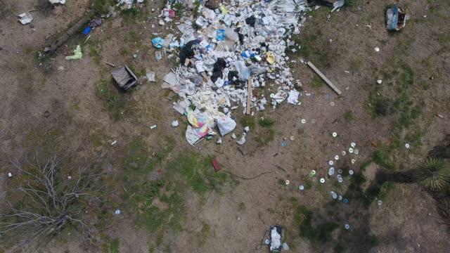 drone footage of a dumping site 8 - ハンガー点の映像素材/bロール