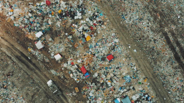 drone footage of a public landfill or garbage dump - landfill stock videos & royalty-free footage