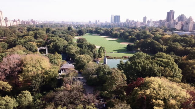 drone footage of central park's belvedere castle. - central park manhattan stock videos & royalty-free footage