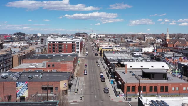 drone footage of denver during covid shutdown. - denver stock videos & royalty-free footage