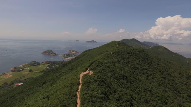 drone footage of hong kong - hong kong island stock videos & royalty-free footage