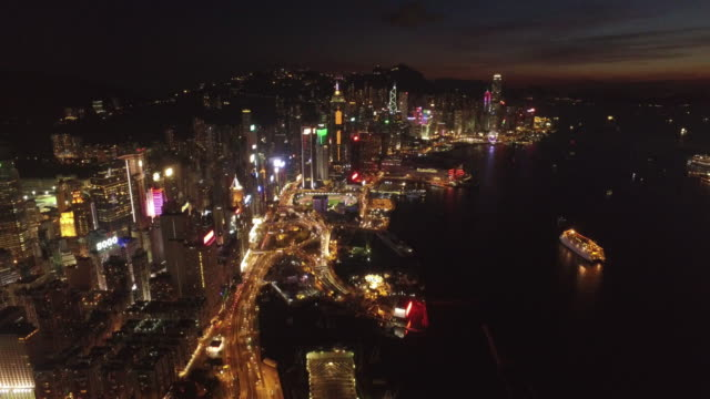 drone footage of hong kong - sequential series stock videos & royalty-free footage