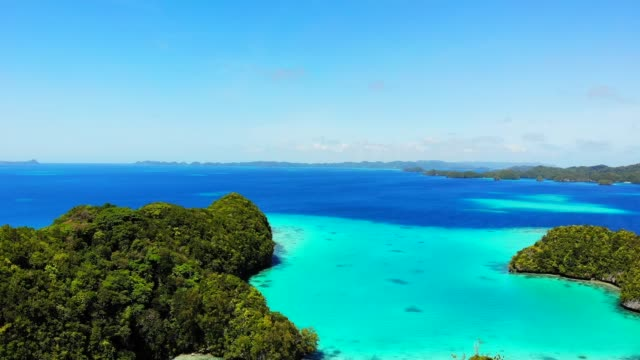 drone footage of koror rock islands, palau, caroline islands, micronesia, pacific - pacific islands stock videos & royalty-free footage