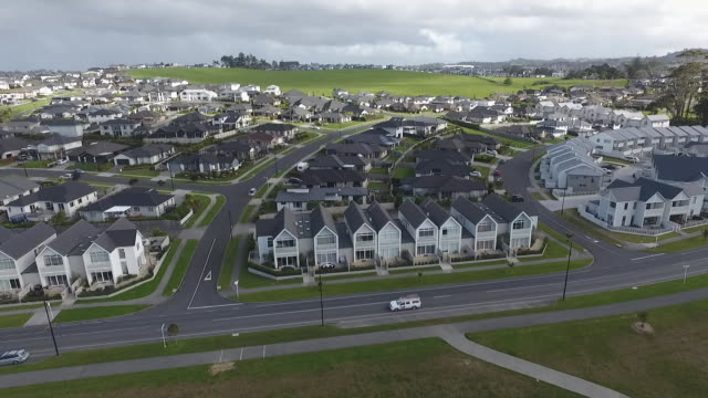 drone footage of millwater housing development - housing development stock videos & royalty-free footage