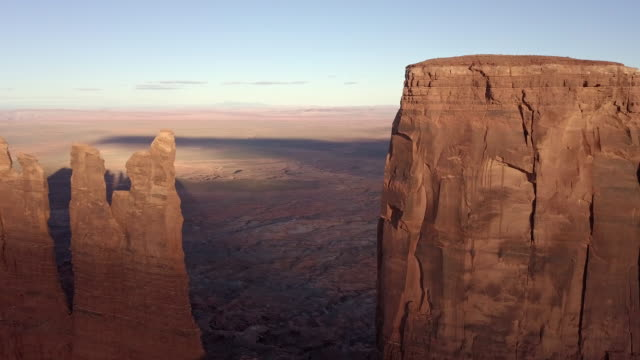 drone footage of monument valley area utah - monument valley stock videos & royalty-free footage