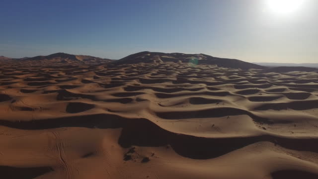 Drone footage of sand dunes